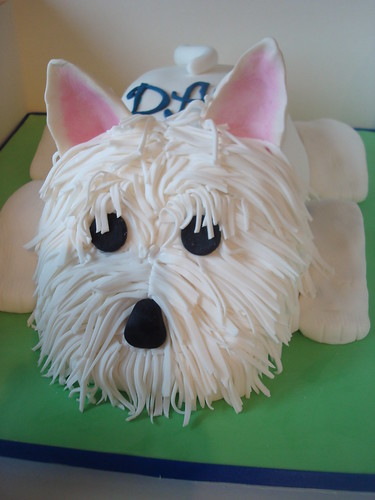 Westie Cake Large Carved Chocolate Cake Shaped To Look