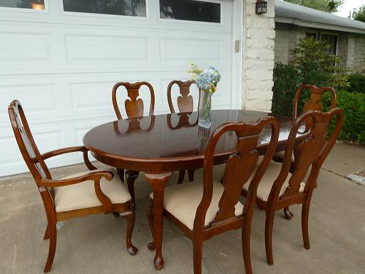 BEAUTIFUL CHERRYWOOD QUEEN ANNE DINING ROOM SET - 6 CH… | Flickr
