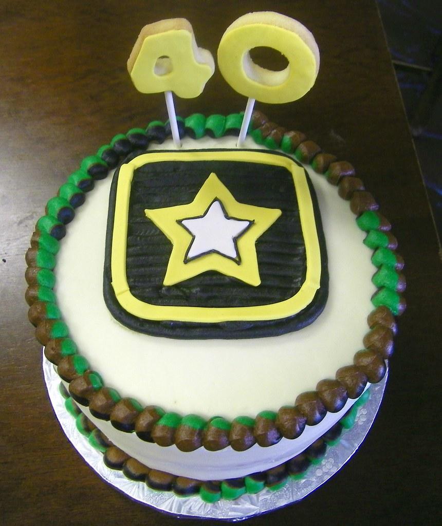 Army Birthday Cake By Patty Cakes Birthday 40th Birthday C Flickr