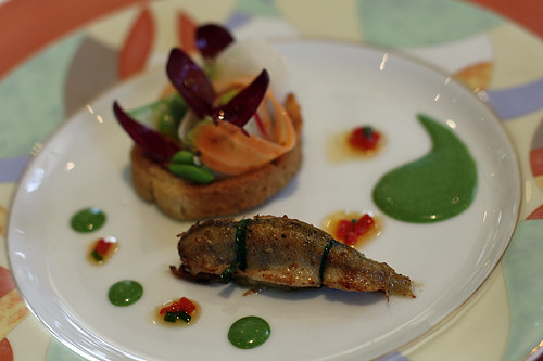 perch and raw fish and vegetable tart | by David Lebovitz