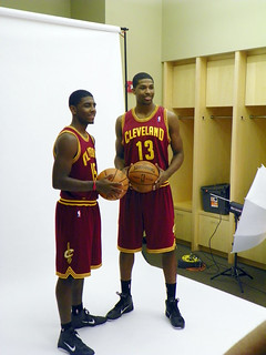 Kyrie and Tristain Pose in Their New Uniforms | by Cavs History