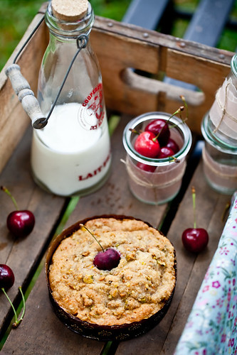 Cherry Pistachio Crumble Cake | Recipe and story on Tartelet ...