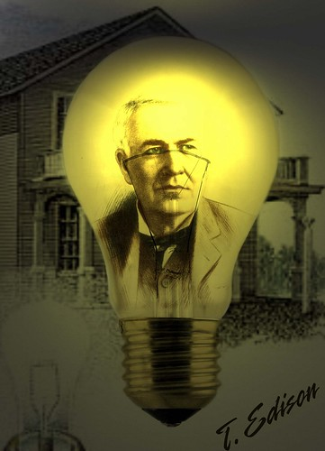 Thomas Edison in the Bulb | by Cea.