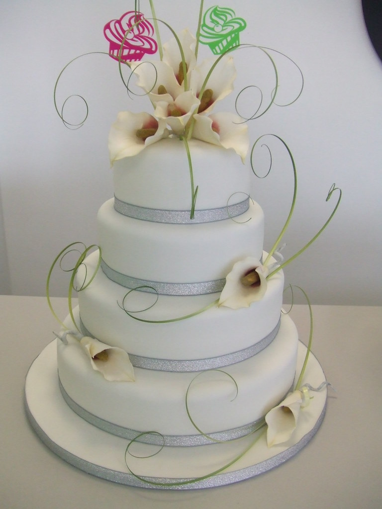 CAKE Calla Lily Wedding Cake By Jules Jules Enquiries - Calla Lilly Wedding Cake