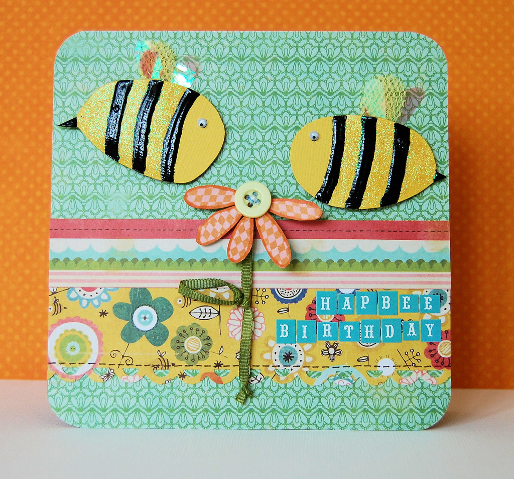 Hap-Bee Birthday | Made with the Crafty Templates April Card… | Flickr