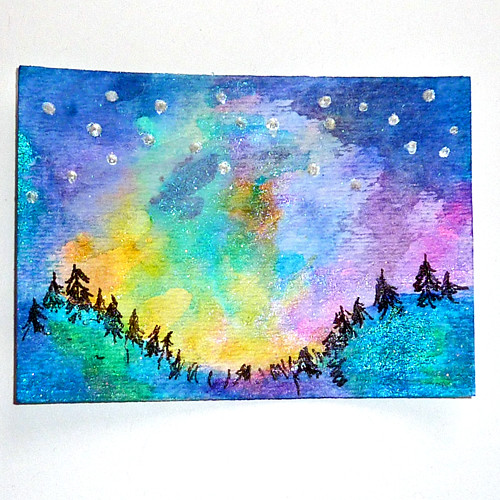 ... Norway Summer Nights Watercolor Card | By Ld Photography 12
