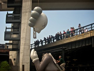 "KAWS. ""Passing Through"". Installation. New York City. 
