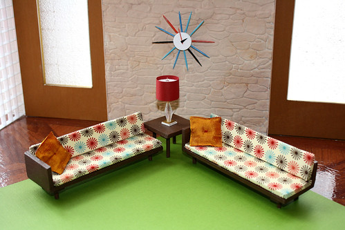 Mid Century Modern Living  1:12 scale! | by Welcome Home Furnishings