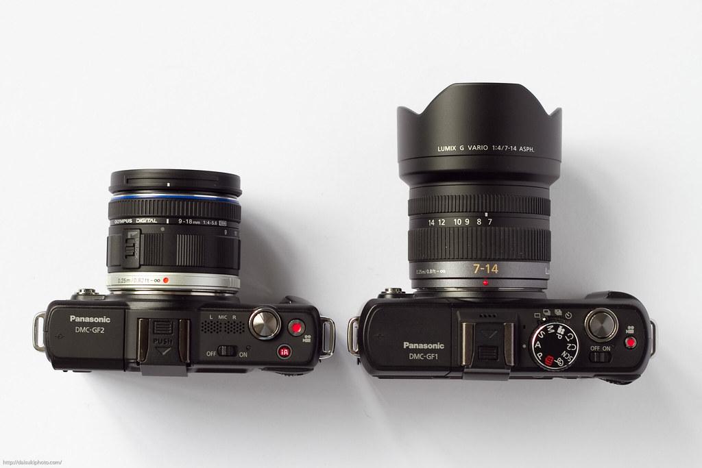 Panasonic GF2 With Olympus 9 18mm F 4 56 And GF1 7