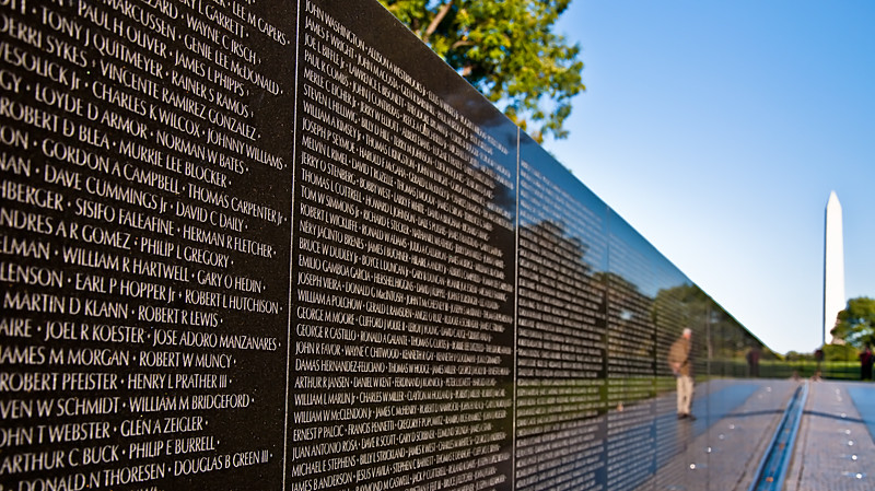 Image result for vietnam veterans memorial wall