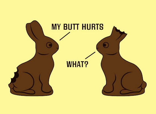 "Image result for easter cartoon.. ""my butt hurts"