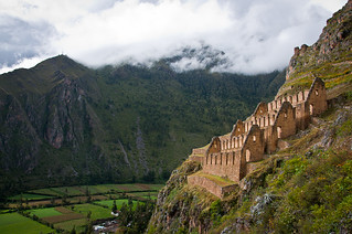 Inca Storehouses over Ollantaytambo | by Kenneth Moore Photography