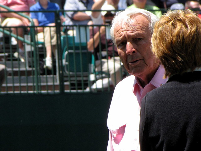 Arnold Palmer at the Wells Fargo Pro-Am