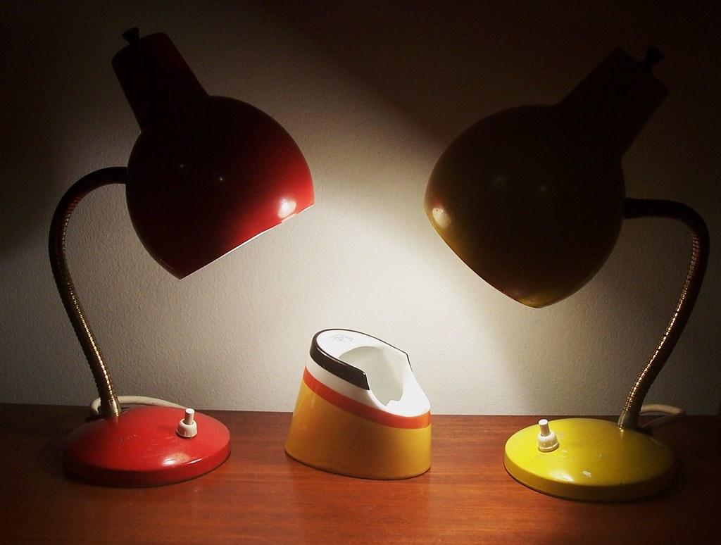 robert lamp or adjustable desk eyeball pin sonneman mid modern table century