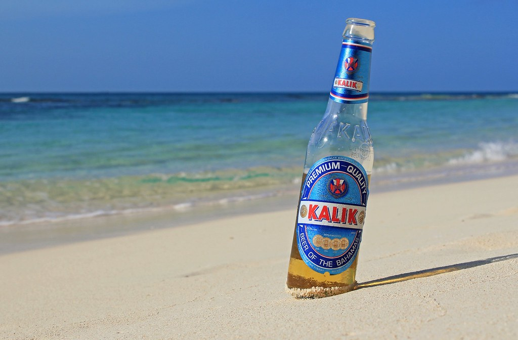 a kalik. on a beach. facing the SW N Atlantic.