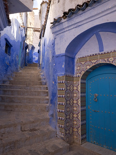 Chefchaouen door, Morocco with Panasonic GX1 and Lumix 7-14mm lens | by Cameralabs