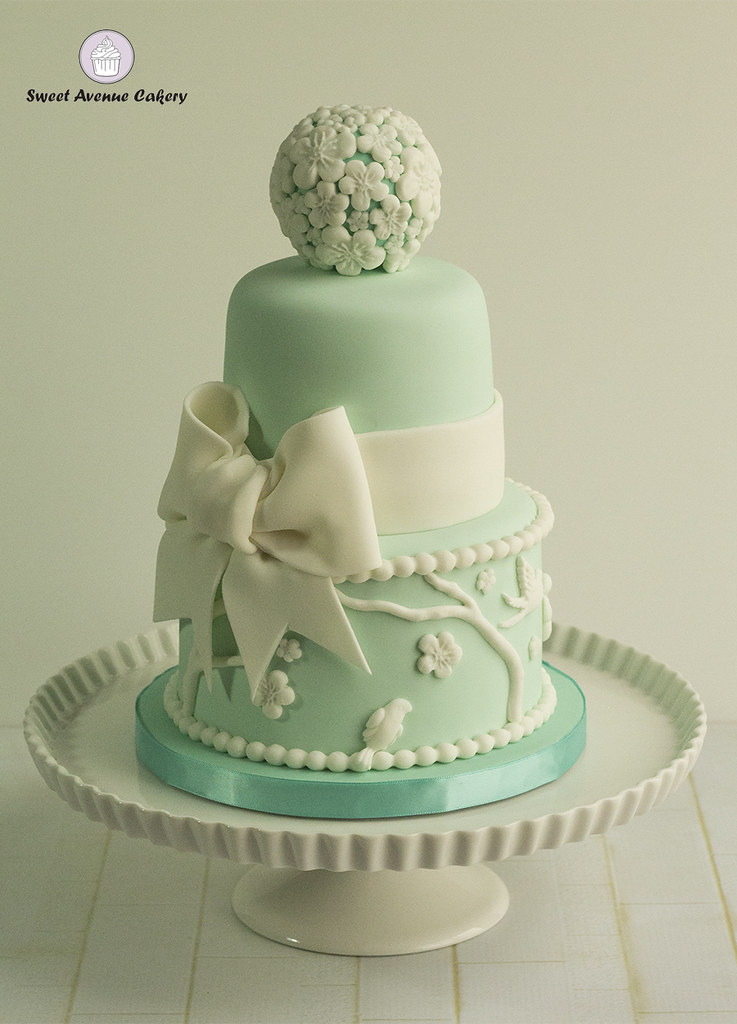 Vintage Victorian Garden Cake in Mint Green A second take Flickr