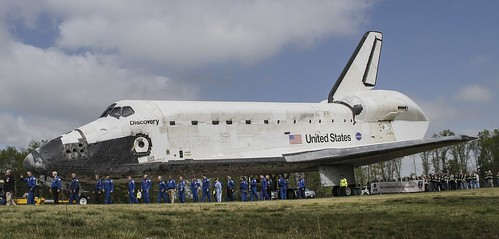 Nasa astronauts assemble for the dedication ceremonies. | by popago