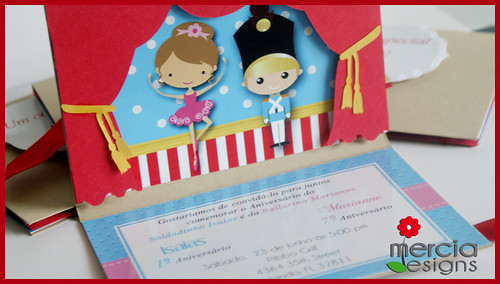 418 - Little Tin Soldier and Ballerina Invitation | by mercia designs