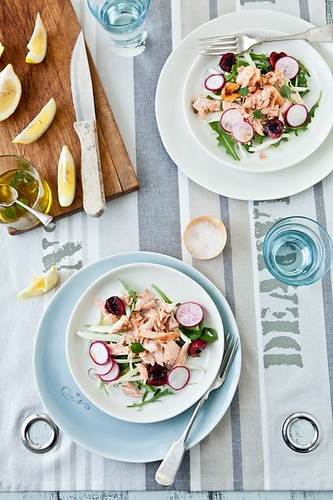 Grilled Salmon, Cherry, Fennel & Radish Salad | by tartelette