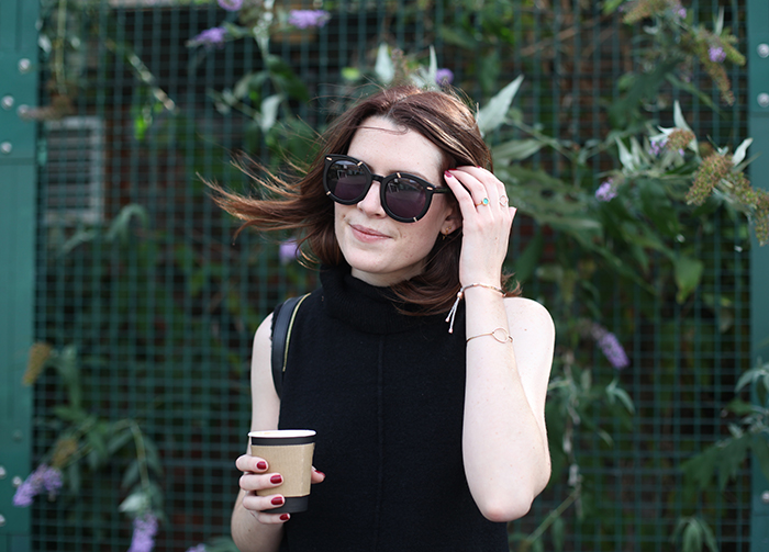 London fashion blogger | Street Style | Leather leggings | Black tunic knit