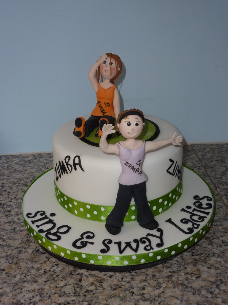 Zumba Cake I Did This Cake For My Zumba Class They Were D Flickr