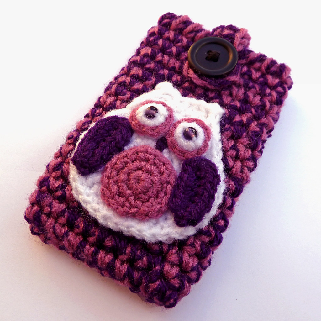 Crochet purple owl phone case | This spooky deep purple and … | Flickr