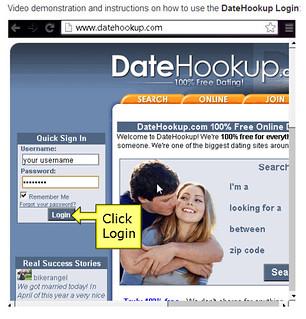 Free hookups login