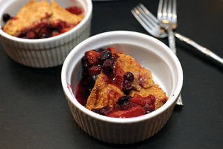 peach, apricot, and blueberry cobbler | by sassyradish