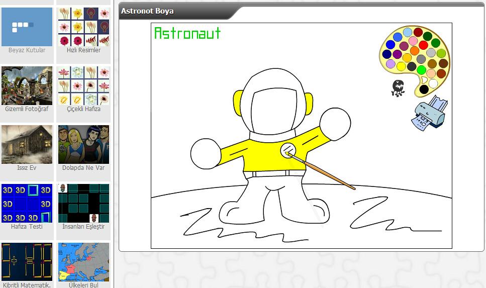 Astronot Boya Zeka Oyunlari Zeka Oyunlari Hafiza Oyunlari Flickr