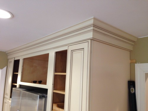 Crown Molding Kitchen Cabinets Different Heights