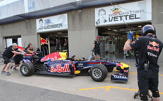 Mark Webber & Sebastian Vettel's Garages | by IndyCar Series