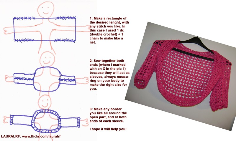 Crochet Shrug Or Bolero Instructions Because Many Of You A Flickr