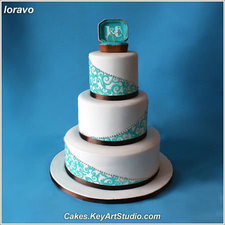 turquoise wedding cakes turquoise and chocolate brown wedding cake cakes 21312