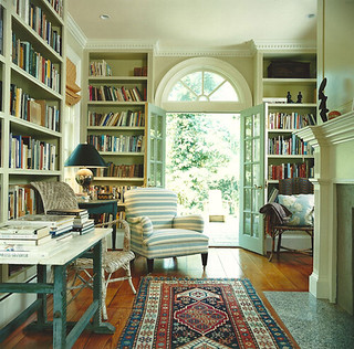 From Fragile Bird {traditional modern living room / study / library} | by recent settlers