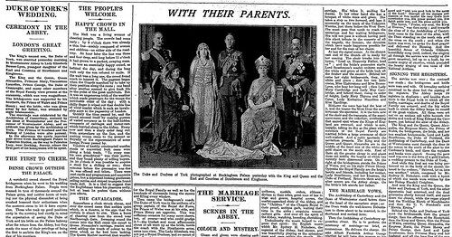 26th April 1923 - Royal Wedding - Duke & Duchess of York | by Bradford Timeline
