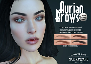 <Nar> Aurian Brows (for Catwa) | by Jade Glazner / Nar Mattaru