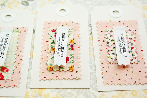 fabric + paper nanaCompany tags | by nanaCompany