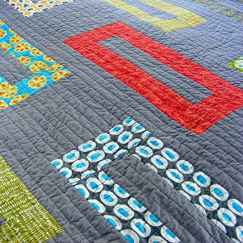 Buttonholes quilt close-up | by Wendi Gratz