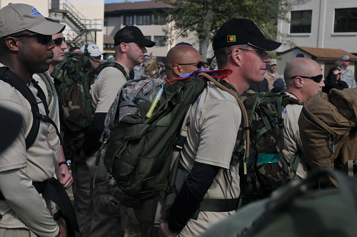 Airmen honor fallen air advisors through nearly 90-mile ruck march | by North Carolina National Guard