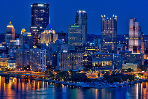 Pittsburgh Point at night | by Photomatt28