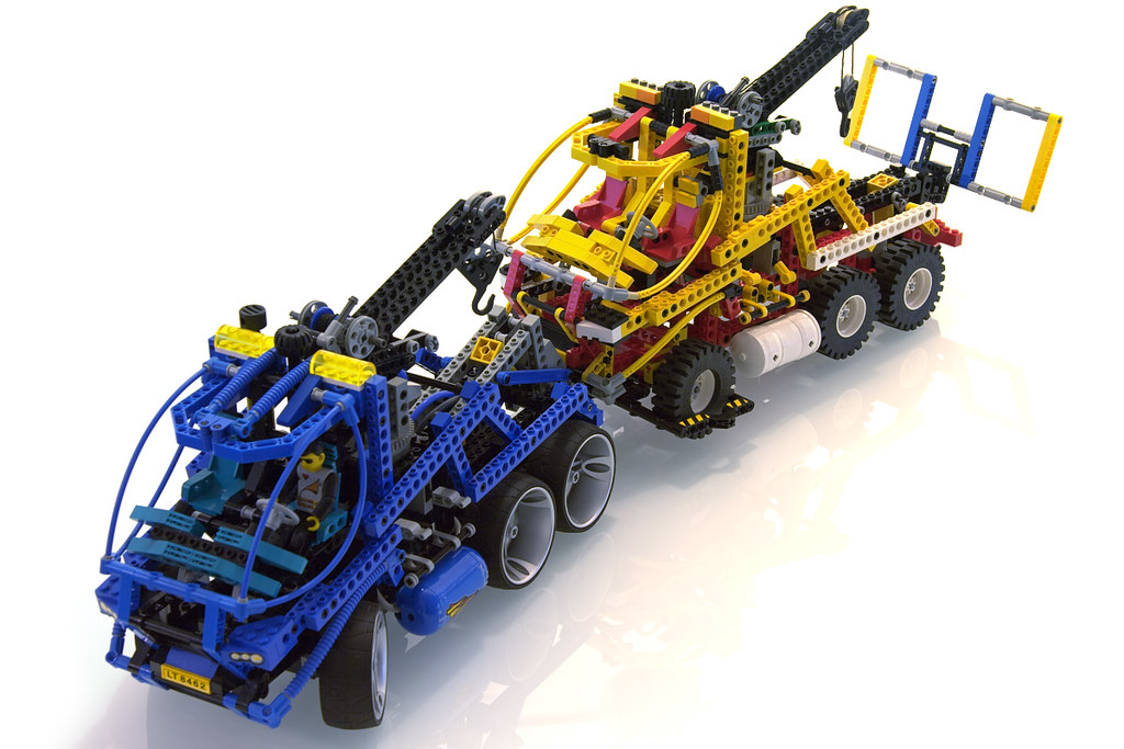 ... LEGO 8462 towing its prototype   by Lowcola