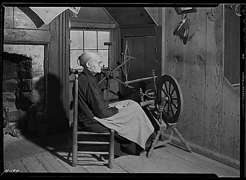 """Mrs. Jacob Stooksbury in her home at Loyston, Tennessee."", 11/23/1933 