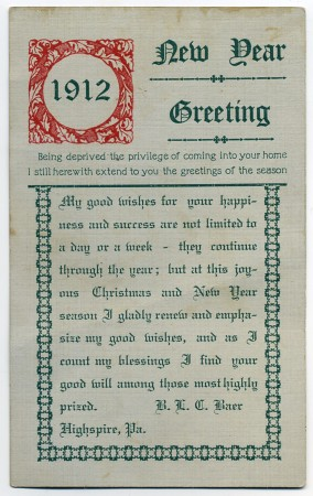 new year greeting 1912 by alan mays