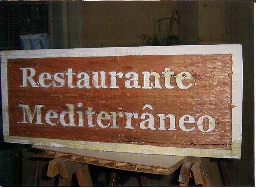 Placa restaurante mediterraneo 30000 entalhe terminado - Restaurante mediterraneo pinedo ...