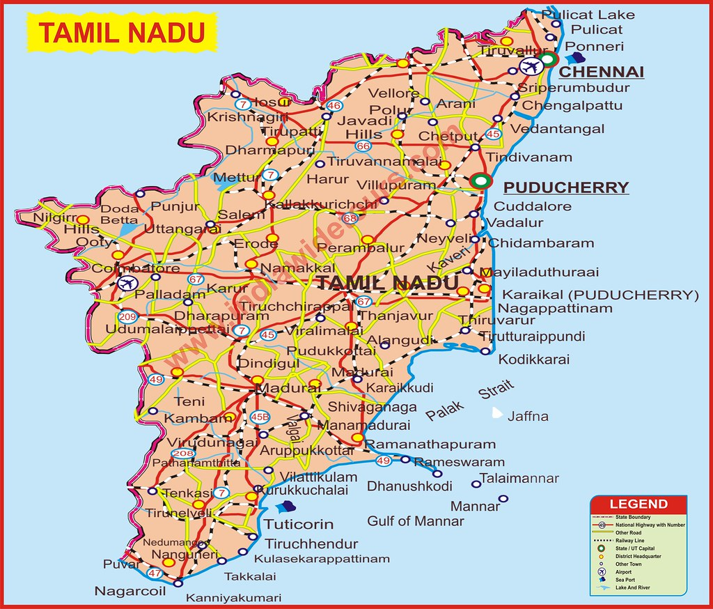 TAMIL NADU Map of India Tourist Map of India Map of Arunac Flickr