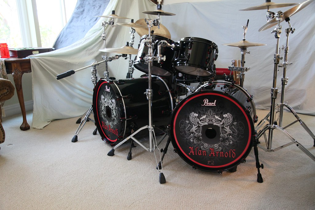 Pearl Reference Double Bass Drum Kit