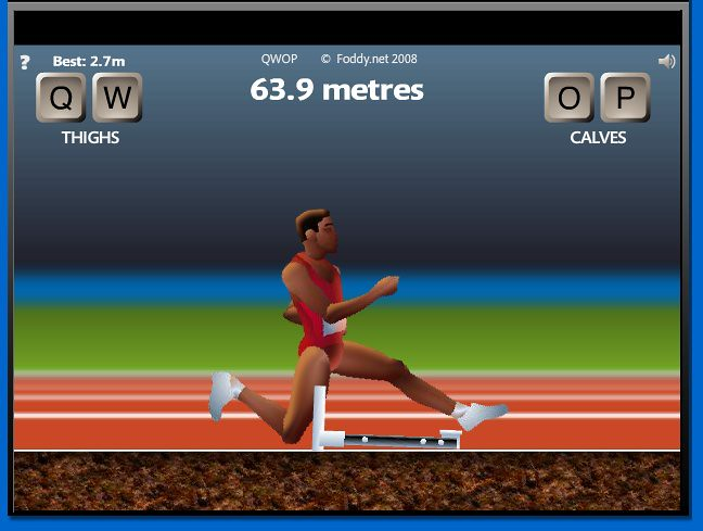 Qwop 3 soi didnt quite make it over the hurdle i just flickr qwop 3 by hysterical bertha ccuart Image collections
