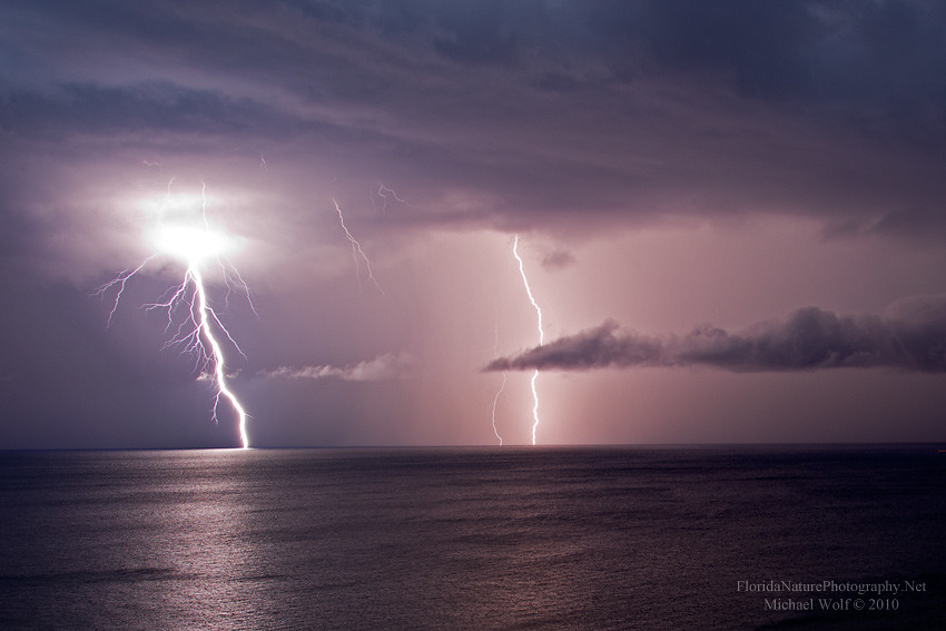 Floridanaturephotography Atlantic Ocean Lightning Storm Over Pompano Beach 2238