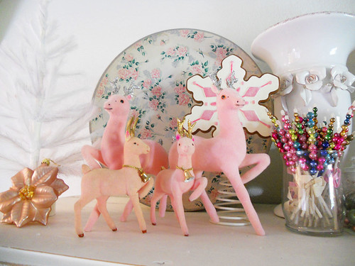 vintage flocked pink deer | by ♥Sugar*Sugar♥